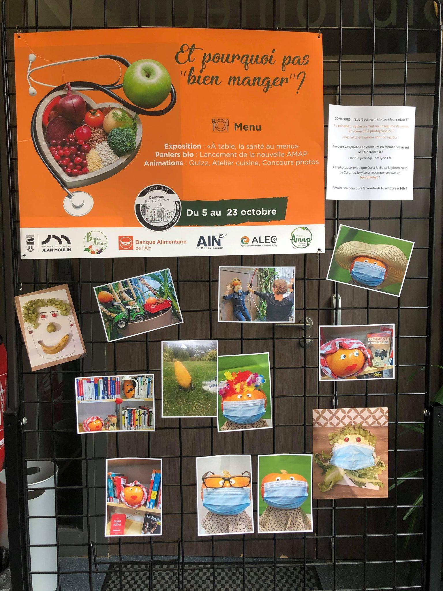 """Panneau concours photos Semaine du """"Bien Manger"""""""