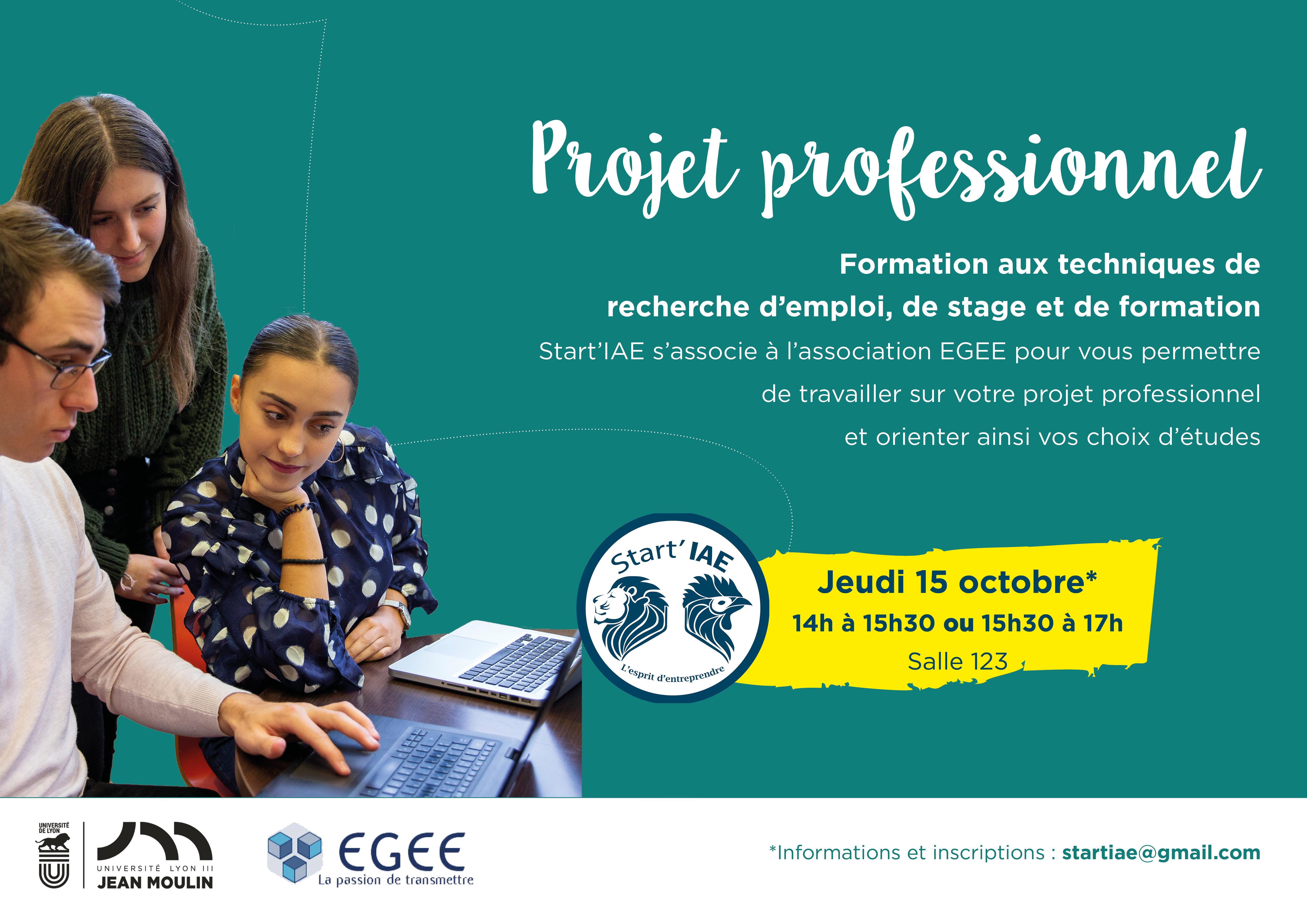 Atelier de l'association EGEE sur le Campus de Bourg