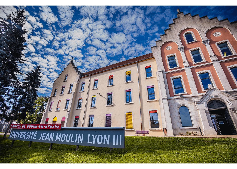 Façade principale et actuelle du Campus de Bourg-en-Bresse.