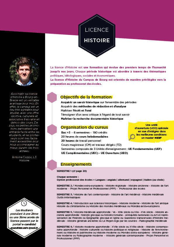 Guide formation Histoire