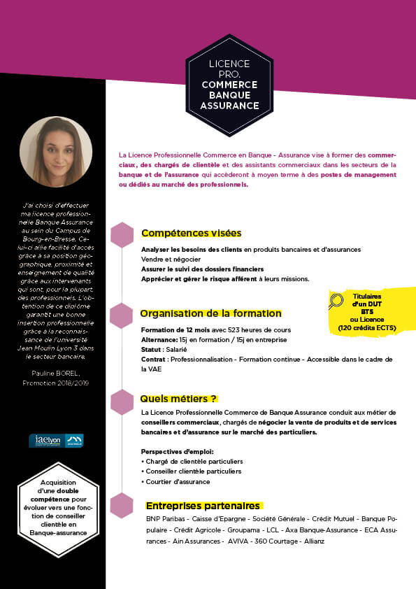 Guide formation LP Banque-Assurance