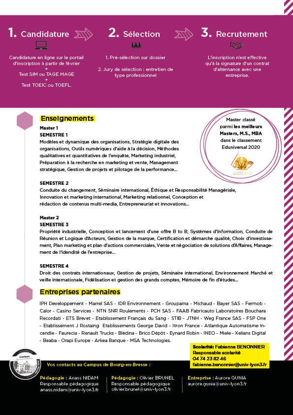 Guide formation Master MV BtoB