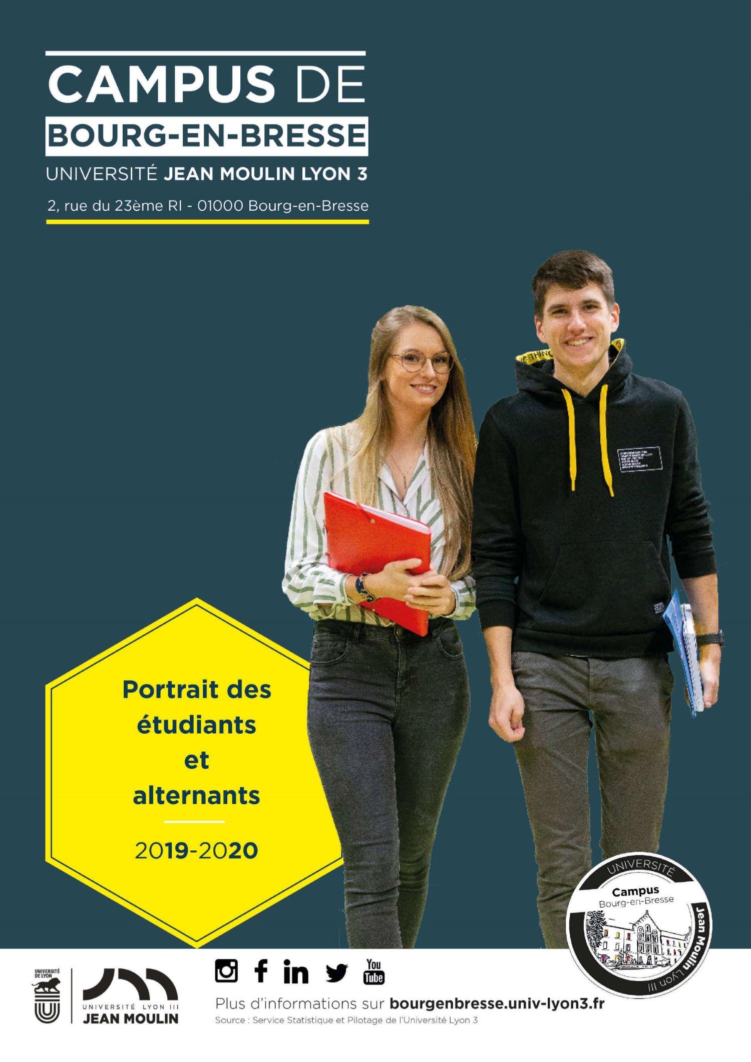 Portrait des étudiants et alternants du Campus de Bourg-en-Bresse de l'Université Lyon 3