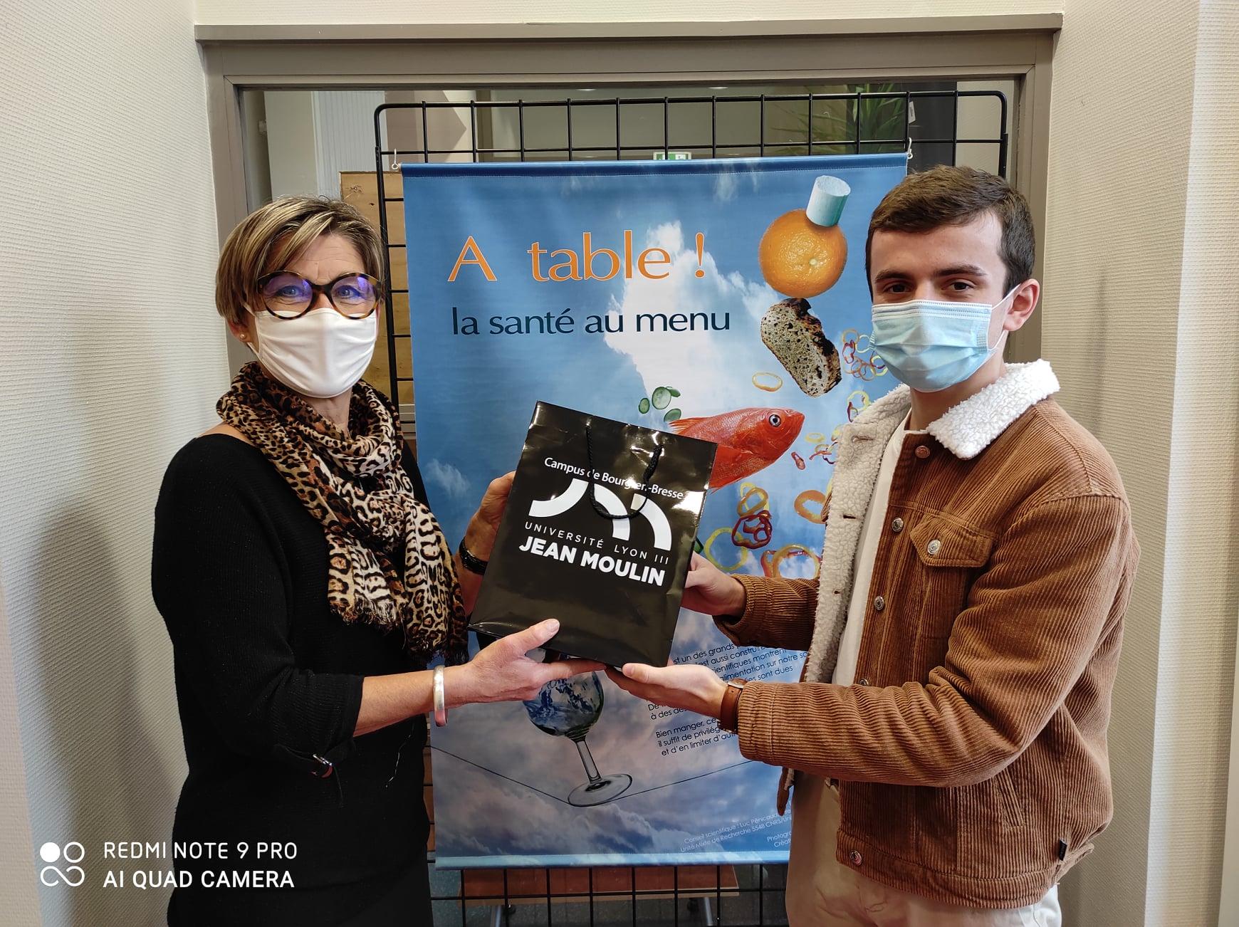 "Tom Lebeau gagnant du Quiz Semaine du ""Bien Manger"""